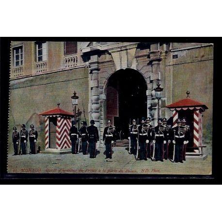 Monaco - Garde d' Honneur du Prince a la porte du Palais - Non voyage - Dos