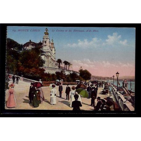 Monaco - Monte-Carlo - le casino et les terrasses - Non voyage - Dos divis