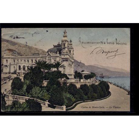 Monaco - Monte-Carlo - casino - le theatre - Voyage - Dos divise