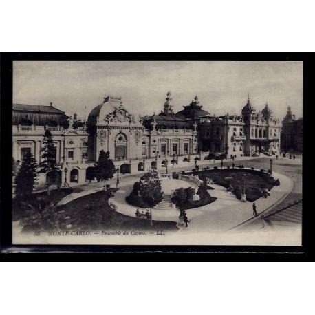 Monaco - Monte-Carlo - ensemble du casino - Non voyage - Dos divise