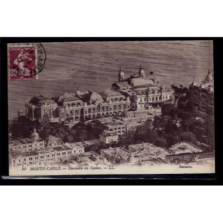 Monaco - Monte-Carlo - Ensemble du casino - Voyage - Dos divise
