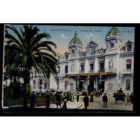 Monaco - Monte-Carlo - Entree du casino - Non voyage - Dos divise