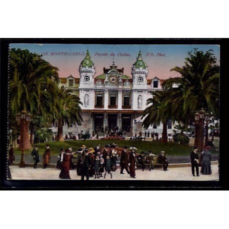 Monaco - Monte-Carlo - facade du casino - Non voyage - Dos divise