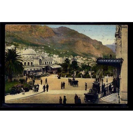 Monaco - Monte-Carlo - la place du casino - Voyage - Dos divise