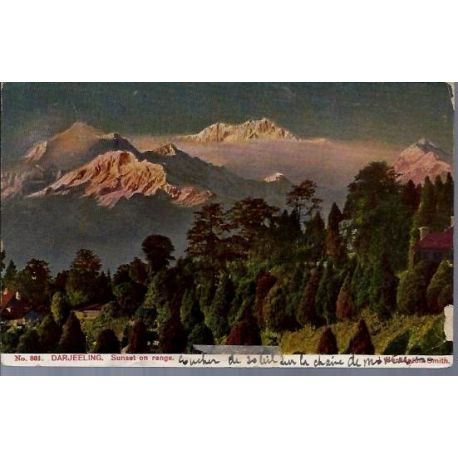 Inde - Darjeeling - Sunset on range
