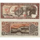 Collection of Banknote Brazil Pick number 166 - 5 Cruzeiro 1961