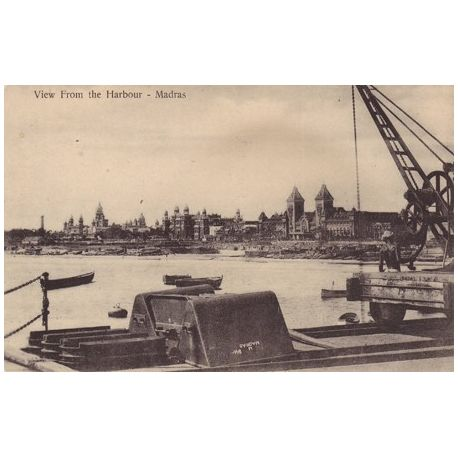 Inde - Madras - View from the harbour
