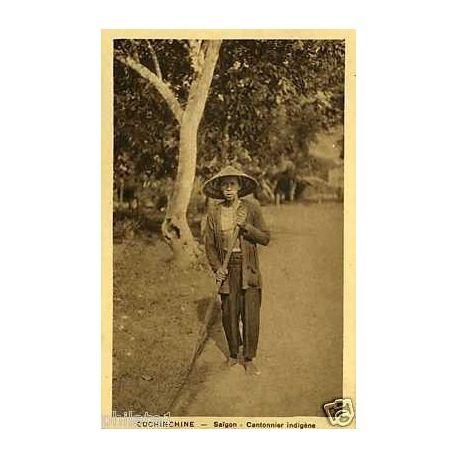 Cochinchine - Saigon - Cantonnier indigene