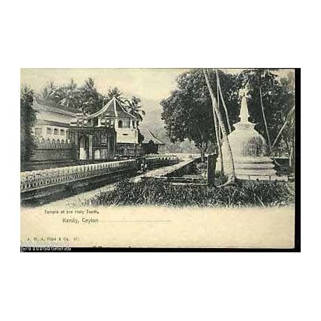 Ceylon - Kandy - Temple of the holy tooth - Ceylan