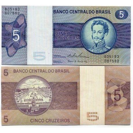 Billets de banque Bresil Pk N° 192 - 5 Cruzeiros