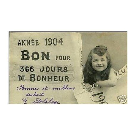 Bergeret - Annee 1904 Bon pour 365 jours de Bonheur