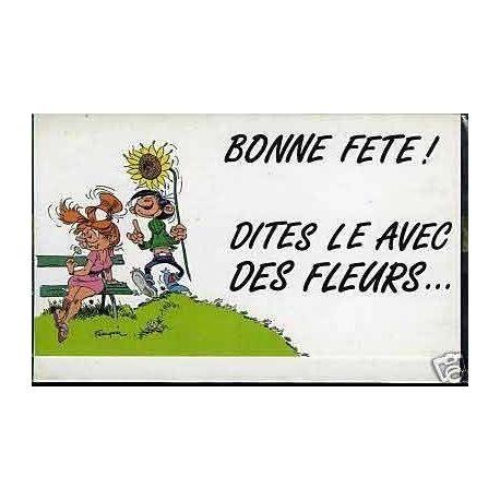 Carte-lettre G. Lagaffe - Bonne fete ! Franquin