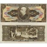 Colección de billetes Brasil Pick número 176 - 5 Cruzeiro 1962