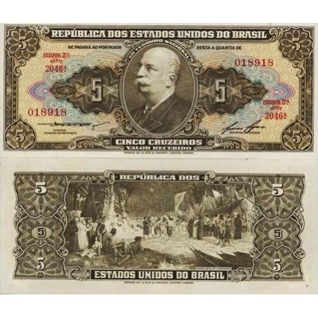 Billets collection Bresil Pk N° 176 - 5 Cruzeiros