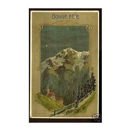 Bonne fete -Paysage de montagne - Relief