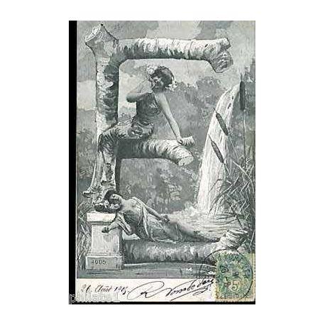 Carte alphabet - Lettre E