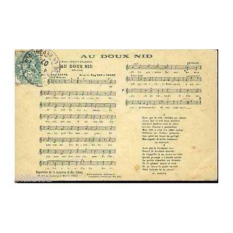 Carte-chanson - Au doux nid