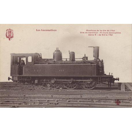 Locomotive de la Cie de l'Est Dite de banlieue 6 roues