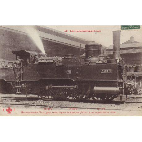 Locomotive de la Cie de l'Ouest Machine tender N° 21