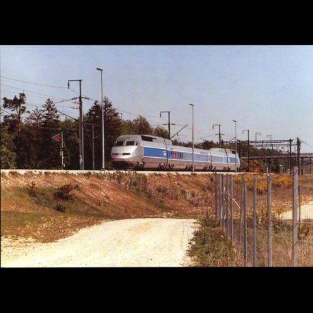 28 - Dangeau - Rame TGV A 325 quitte le PRS de Dangeau en direction de Paris apres des essais a plus de 485km/h vers Ven