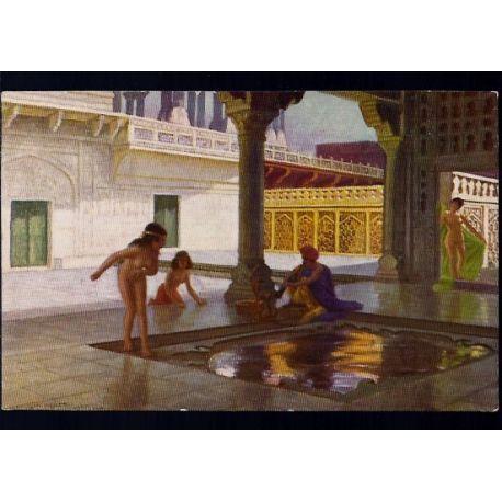 Inde - Charmeur de serpents et femmes nues au serail de l'empereur San Jehan