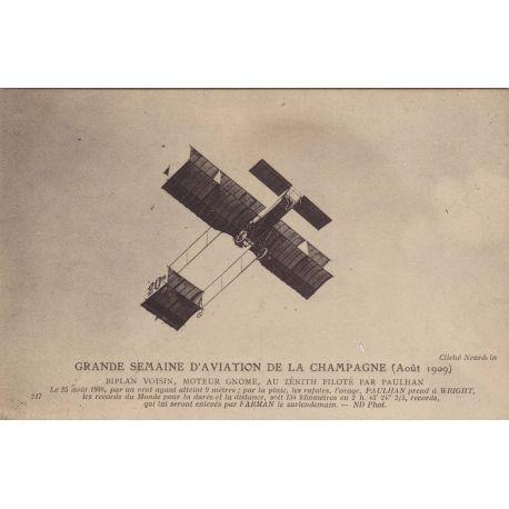Biplan Voisin pilote par Paulhan