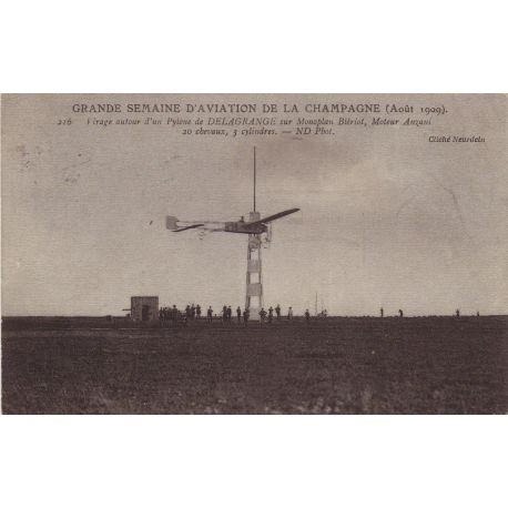 Delagrange sur monoplan Bleriot Aout 1909