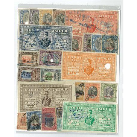 Jaipur - 10 verschiedene Briefmarken