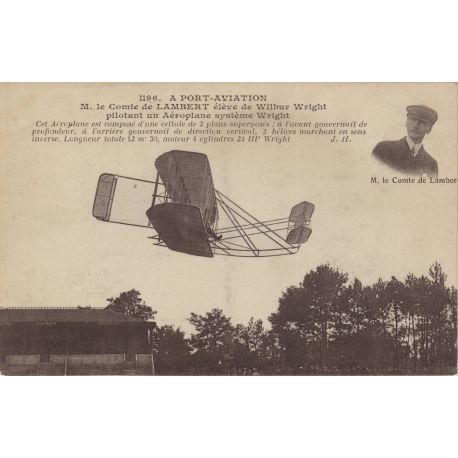 Le comte de Lambert eleve de Wright pilotant...