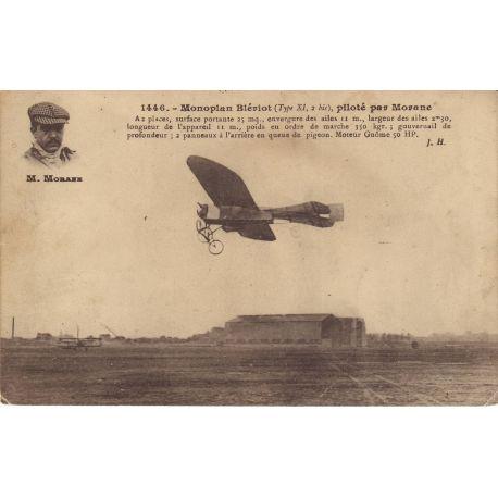 Monoplan Bleriot,pilote par Morane