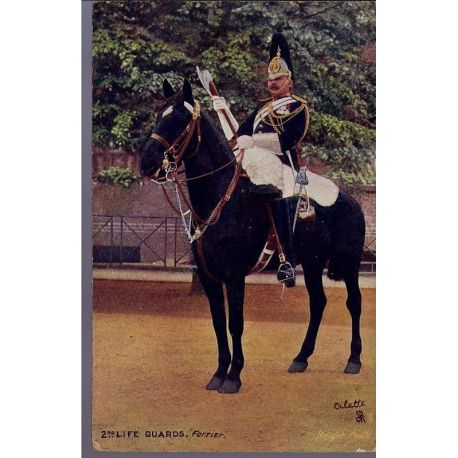 2nd Life Guards - Forrier Carte n'ayant pas voyage