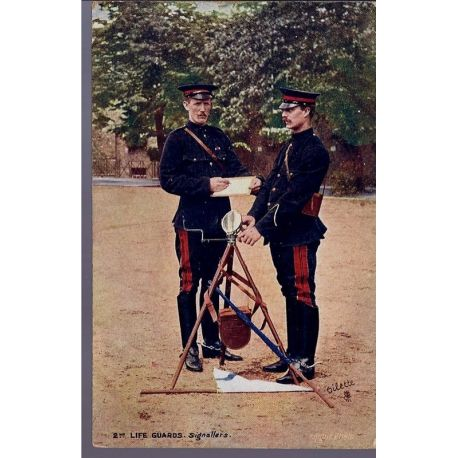 2nd Life Guards - Signallers Carte n'ayant pas voyage