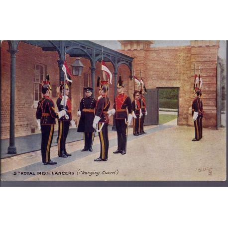 5th Royal Irish Lancers ( Changing Guard) Carte n'ayant pas voyage