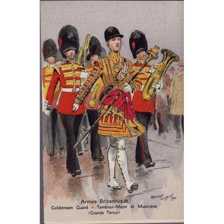 Armee Britannique - Coldstream Guard - Tambour Major Illustree par Maurice Tou