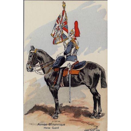 Armee Britannique - Horse Guard - 1940 Illustree par Maurice Toussaint - Carte