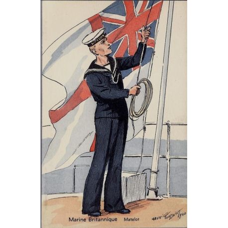 Armee Britannique - Le matelot - 1940 Illustree par Maurice Toussaint - Carte