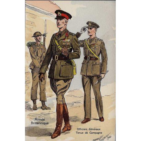 Armee Britannique - Officiers generaux - Tenue de campagne 1940 Illustree par