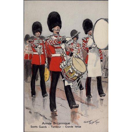 Armee Britannique - Tambour - Scotts Guards - Grande tenue Illustree par Mauri