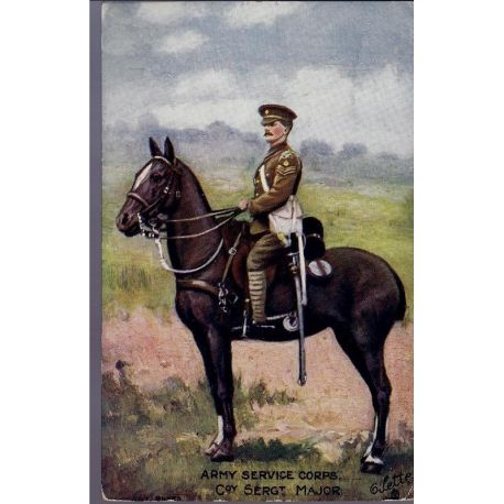 Army service Corps - Coy Sergeant Major Carte n'ayant pas voyage