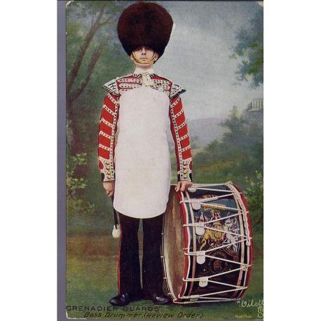 Bass Drummer du Grenadier Guards Carte n'ayant pas voyage