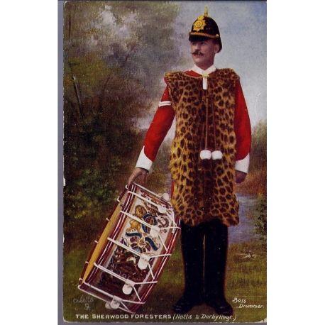 Bass Drummer du Sherwood Foresters - Notts and Derby Regt. Carte n'ayant pas v