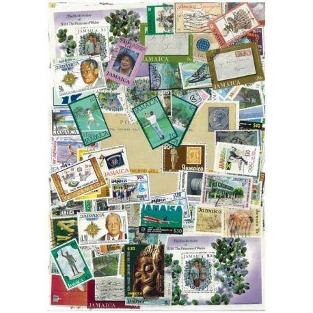 Collection de timbres Jamaique oblitérés