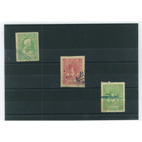 Jaora - 3 verschiedene Briefmarken