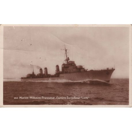Marine militaire francaise - Contre-torpilleur LION