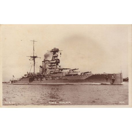 Marine militaire le H.M.S. Malaya
