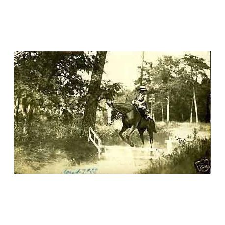 Carte-photo - Equitation a  Moret sur Loing
