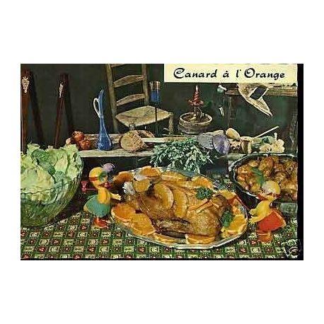 Carte Recette - Le canard a l'orange