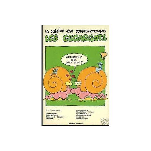 Carte recette les escargots de bourgogne la maison du collectionneur - La maison des escargots ...