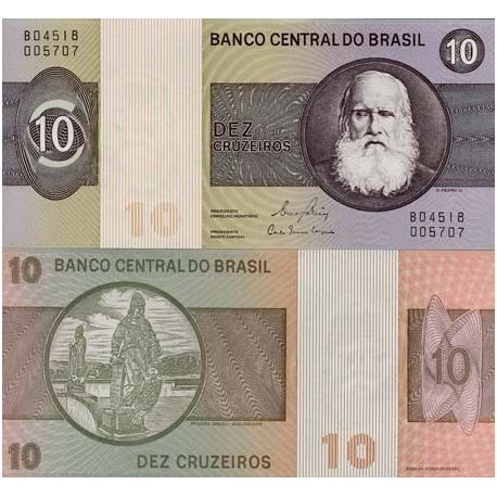 Billet de collection Bresil Pk N° 193 - 10 Cruzeiros