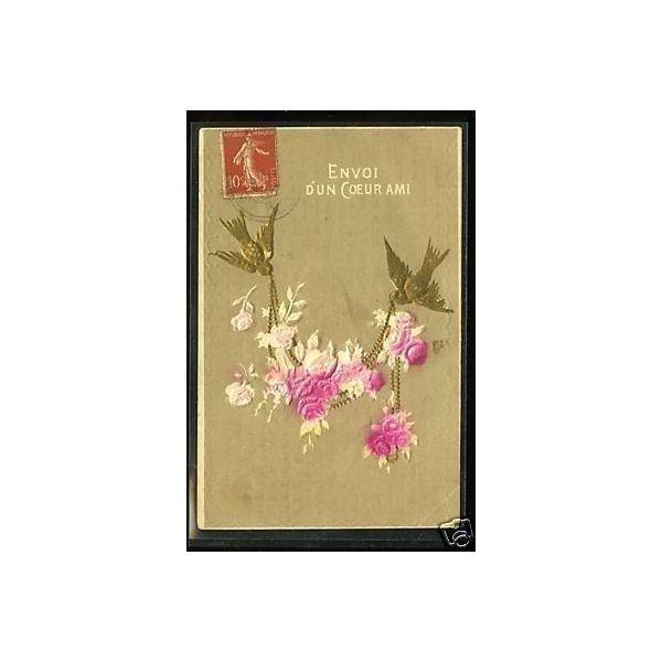 Envoi d 39 un coeur a un ami fleurs oiseaux relief for Envois fleurs